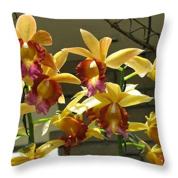 Orchid 5 Throw Pillow by David Dunham
