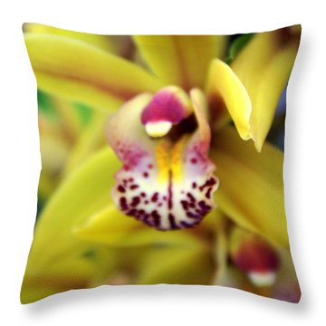 Orchid 9 Throw Pillow by Marty Koch