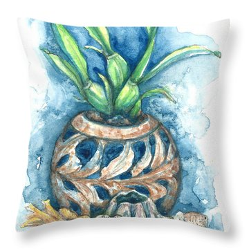 Orchid And Barnacle Throw Pillow