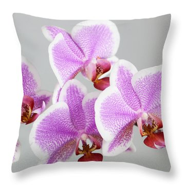 Orchid Array Throw Pillow