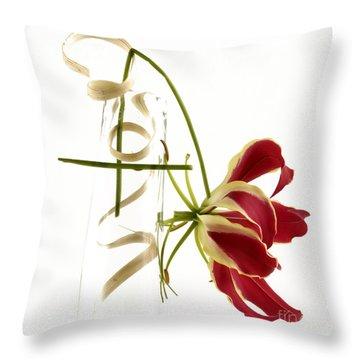 Orchid Throw Pillow by Bernard Jaubert