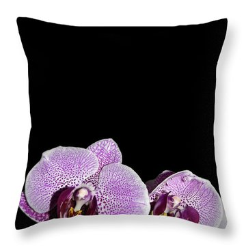 Orchid Blooms Throw Pillow