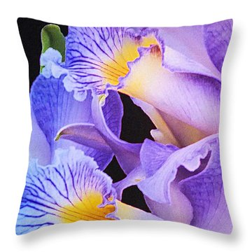 Orchid Bouquet Throw Pillow by Cindy Manero