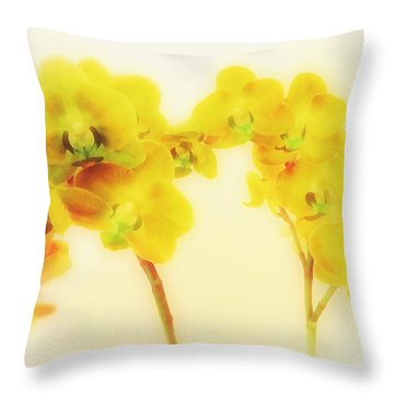 Orchid Collection 'summer' Throw Pillow