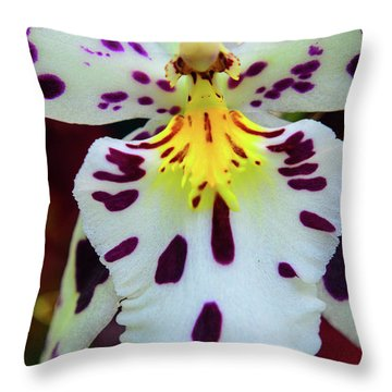 Orchid Cross Throw Pillow