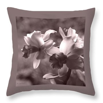 Orchid Dream - Square Throw Pillow by Kerri Ligatich