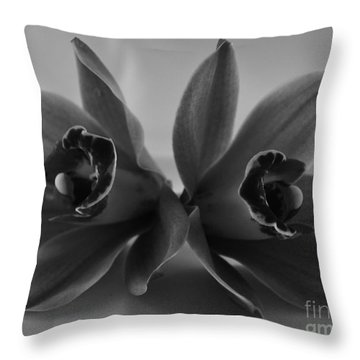 Orchid Duo Throw Pillow