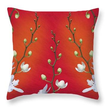 Orchid Ensemble Throw Pillow