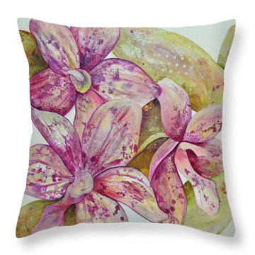 Orchid Envy Throw Pillow