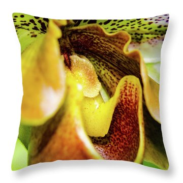 Orchid Faces Throw Pillow