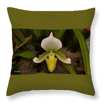 Orchid Flower 42 Throw Pillow
