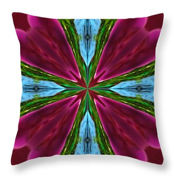Orchid Frenzy Throw Pillow