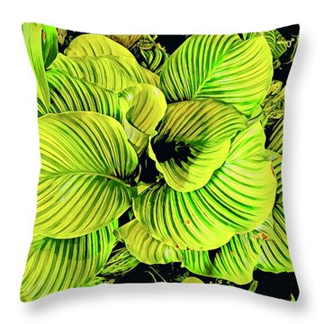 Orchid Green Fade Aloha  Throw Pillow