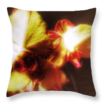 Throw Pillow featuring the photograph Orchid by Isabella F Abbie Shores FRSA