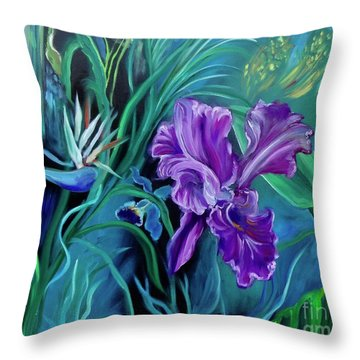 Orchid Jungle Throw Pillow