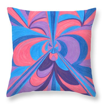 Throw Pillow featuring the drawing Orchid by Kim Sy Ok