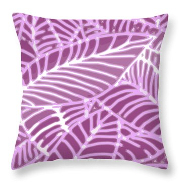 Orchid Leaves Cutout Throw Pillow