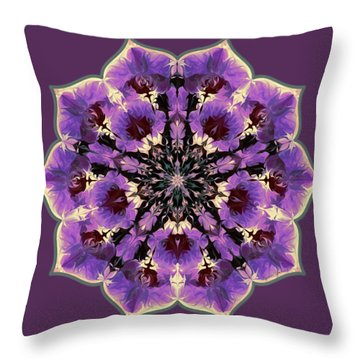Orchid Lotus Throw Pillow