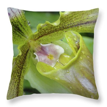 Orchid Love Throw Pillow by Trish Hale