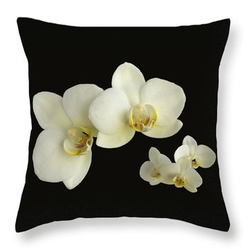 Orchid Montage Throw Pillow by Hazy Apple