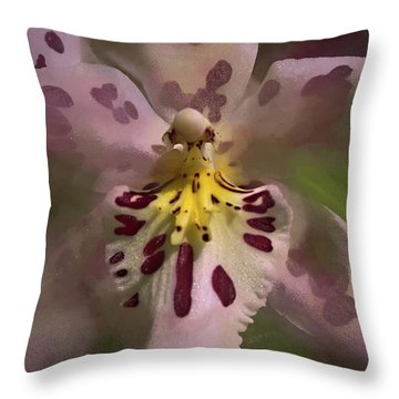 Throw Pillow featuring the photograph Orchid Mysterious by Richard Goldman