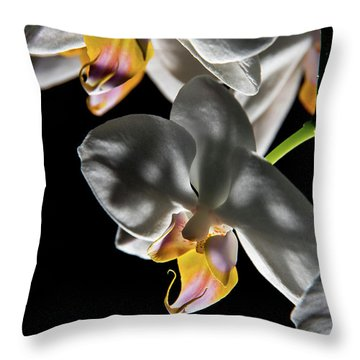 Orchid On Fire Throw Pillow