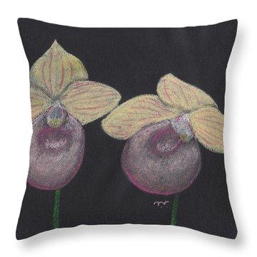Orchid-paphiopedilum Fanaticum Throw Pillow