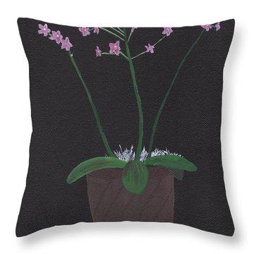 Orchid-phalaeropsis Hybrid Throw Pillow