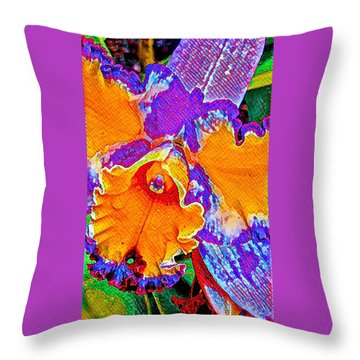 Orchid Psychedelic Throw Pillow