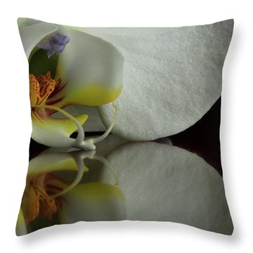 Orchid Reflected Throw Pillow