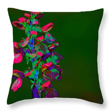 Orchid Throw Pillow by Richard Patmore