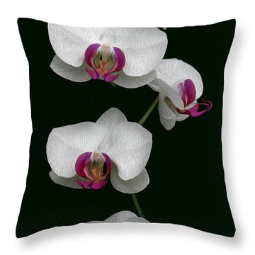 Orchid Sequence  Throw Pillow