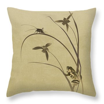 Orchid Sonata Throw Pillow