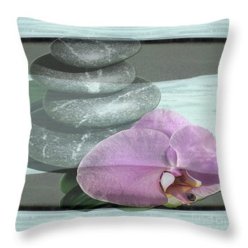 Orchid Tranquility Throw Pillow