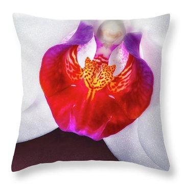 Orchid Up Close Throw Pillow