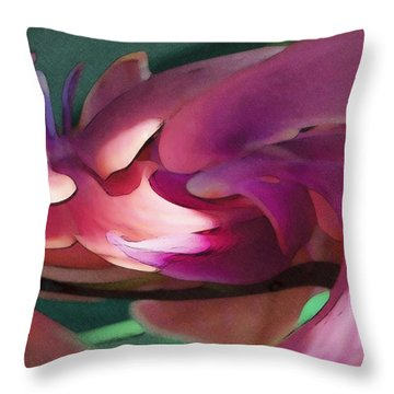 Orchid Variation Borderless Throw Pillow