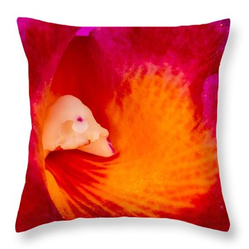 Orchid Vortex 458 Throw Pillow
