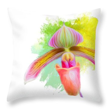 Orchid Whimsy Throw Pillow