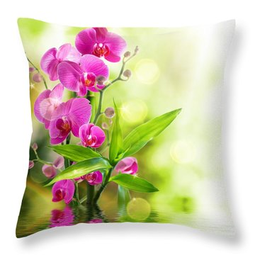 Orchidaceae Throw Pillow