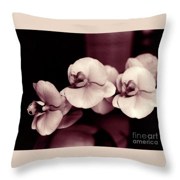 Throw Pillow featuring the photograph Orchids Hawaii by Mukta Gupta