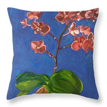 Orchids Throw Pillow by Joshua Redman