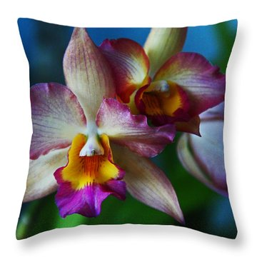 Throw Pillow featuring the photograph Orchids - Trio by Kerri Ligatich