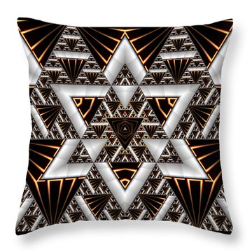 Throw Pillow featuring the digital art Order And Chaos by Manny Lorenzo