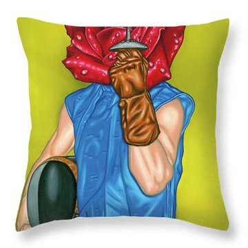 Order Of The Rose Throw Pillow