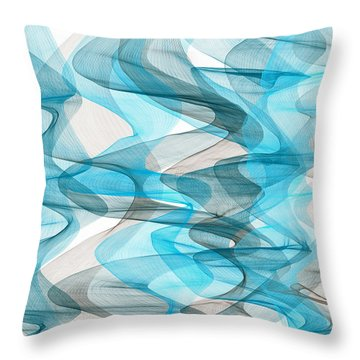 Orderly Blues And Grays Throw Pillow