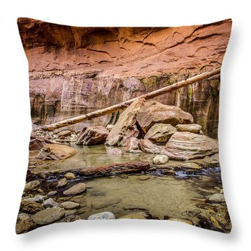 Orderville Canyon Zion National Park Throw Pillow