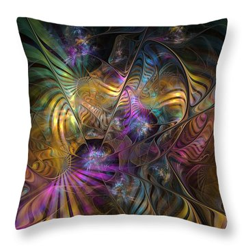 Throw Pillow featuring the digital art Ordinary Instances by NirvanaBlues