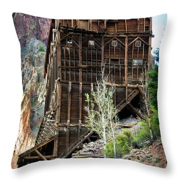Ore Bins Throw Pillow by Lana Trussell