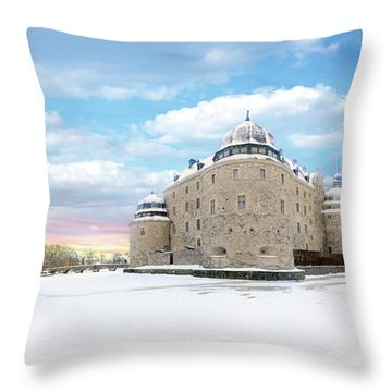 Orebro Castle Throw Pillow