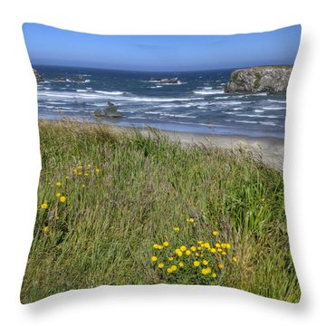 Throw Pillow featuring the photograph Oregon Beauty by Wanda Krack